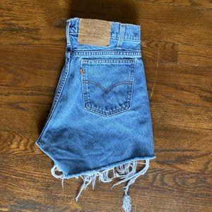 Re worked Levi's denim shorts